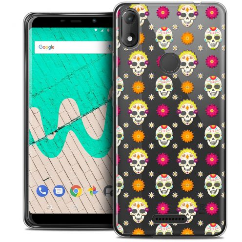 "Extra Slim Crystal Gel Wiko View MAX (5.7"") Case Halloween Skull Halloween"