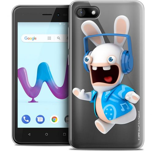 """Crystal Gel Wiko Sunny 3 (5"""") Case Lapins Crétins™ Techno Lapin"""