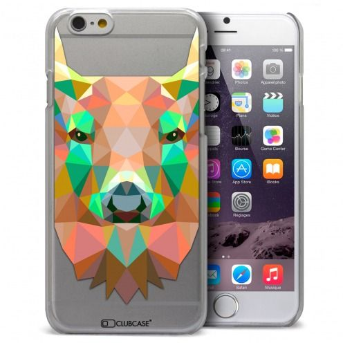 Extra Slim Crystal iPhone 6 / 6s Case Polygon Animals Deer