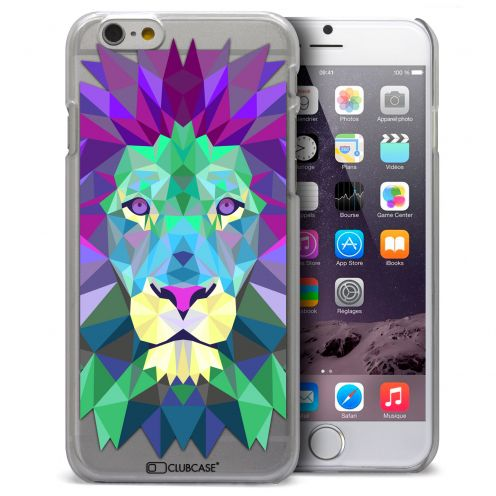 Extra Slim Crystal iPhone 6 Case Polygon Animals Lion