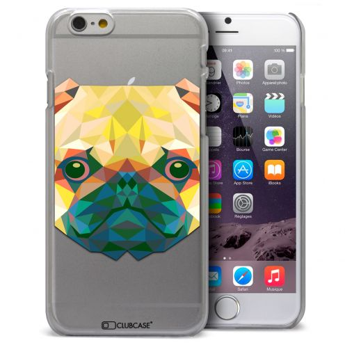Extra Slim Crystal iPhone 6 / 6s Case Polygon Animals Dog