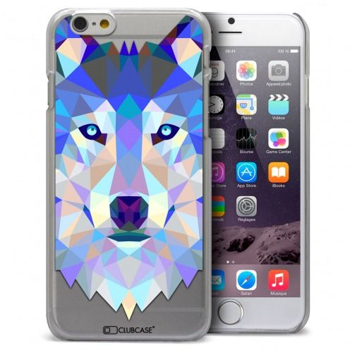 Extra Slim Crystal iPhone 6 Case Polygon Animals Wolf