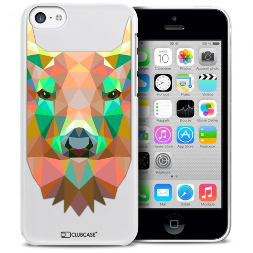 Extra Slim Crystal iPhone 5C Case Polygon Animals Deer