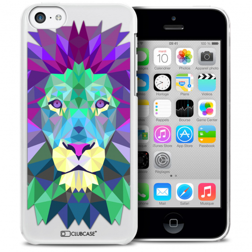 Extra Slim Crystal iPhone 5C Case Polygon Animals Lion