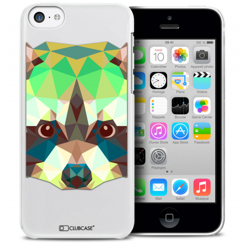 Extra Slim Crystal iPhone 5C Case Polygon Animals Racoon