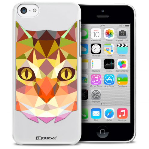 Extra Slim Crystal iPhone 5C Case Polygon Animals Cat