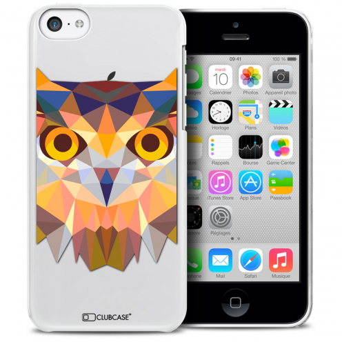 Extra Slim Crystal iPhone 5C Case Polygon Animals Owl