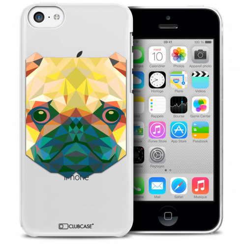 Extra Slim Crystal iPhone 5C Case Polygon Animals Dog