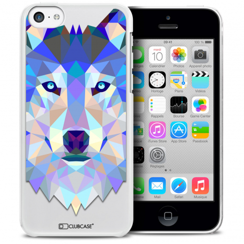 Extra Slim Crystal iPhone 5C Case Polygon Animals Wolf