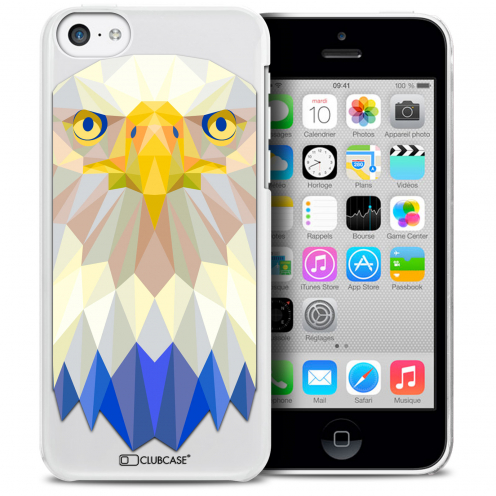 Extra Slim Crystal iPhone 5C Case Polygon Animals Eagle