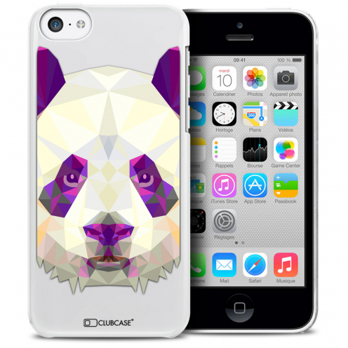 Extra Slim Crystal iPhone 5C Case Polygon Animals Panda