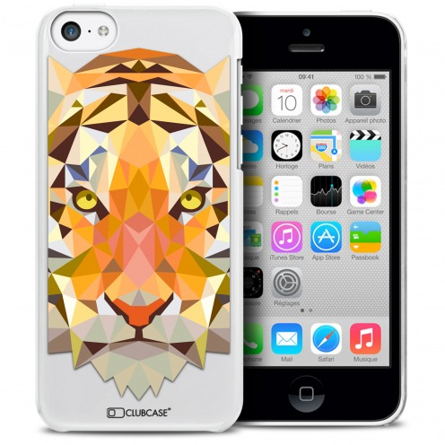 Extra Slim Crystal iPhone 5C Case Polygon Animals Tiger