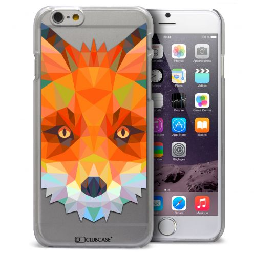 Extra Slim Crystal iPhone 6 Case Polygon Animals Fox