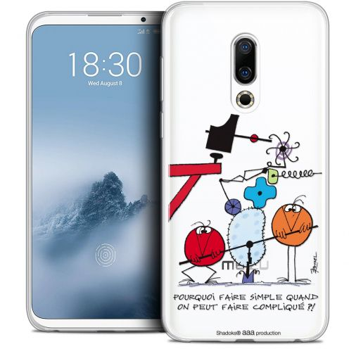 "Extra Slim Crystal Gel Meizu 16 (6"") Case Les Shadoks® Pourquoi faire Simple"