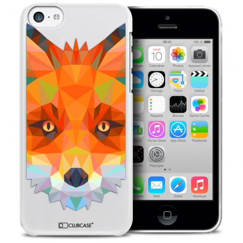 Extra Slim Crystal iPhone 5C Case Polygon Animals Fox