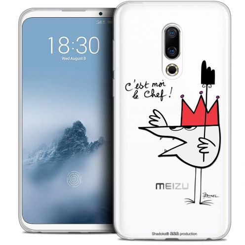 "Extra Slim Crystal Gel Meizu 16 (6"") Case Les Shadoks® Le Chef"