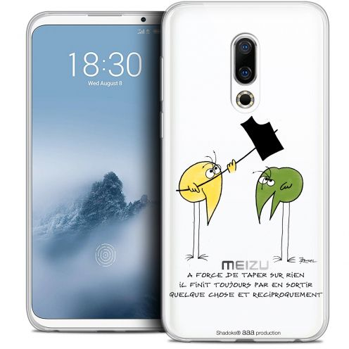 "Extra Slim Crystal Gel Meizu 16 (6"") Case Les Shadoks® A Force"