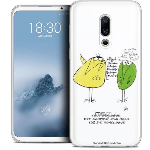 "Extra Slim Crystal Gel Meizu 16 (6"") Case Les Shadoks® Le Dialogue"