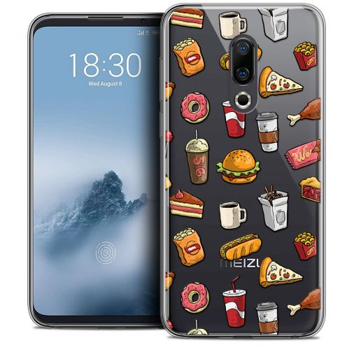 "Extra Slim Crystal Gel Meizu 16 (6"") Case Foodie Fast Food"