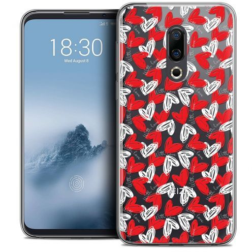 "Extra Slim Crystal Gel Meizu 16 (6"") Case Love With Love"