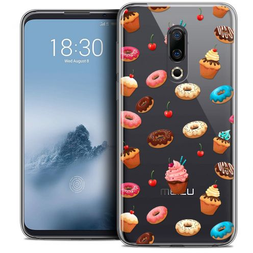 "Extra Slim Crystal Gel Meizu 16 (6"") Case Foodie Donuts"
