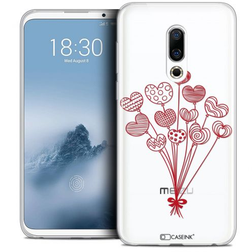 "Extra Slim Crystal Gel Meizu 16 (6"") Case Love Ballons d'amour"