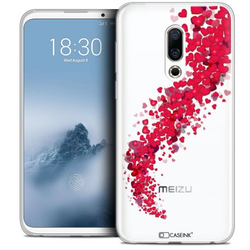 "Extra Slim Crystal Gel Meizu 16 (6"") Case Love Tornado"