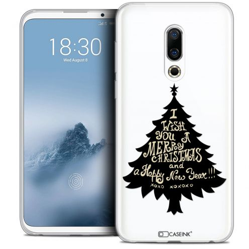 "Extra Slim Crystal Gel Meizu 16 (6"") Case Noël 2017 XOXO Tree"