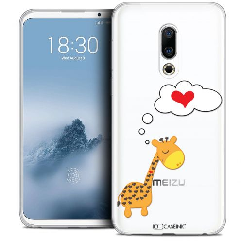 "Extra Slim Crystal Gel Meizu 16 (6"") Case Love Girafe Amoureuse"