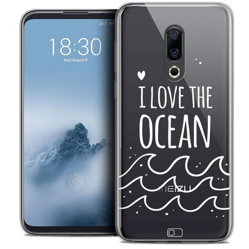 "Extra Slim Crystal Gel Meizu 16 (6"") Case Summer I Love Ocean"
