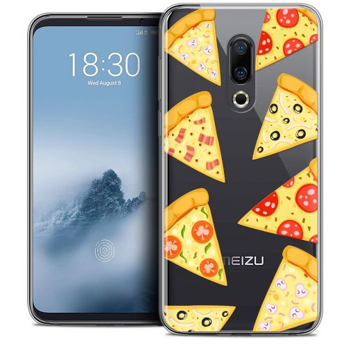 "Extra Slim Crystal Gel Meizu 16 (6"") Case Foodie Pizza"