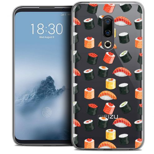 "Extra Slim Crystal Gel Meizu 16 (6"") Case Foodie Sushi"