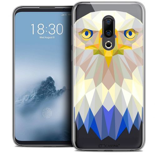 "Extra Slim Crystal Gel Meizu 16 (6"") Case Polygon Animals Eagle"