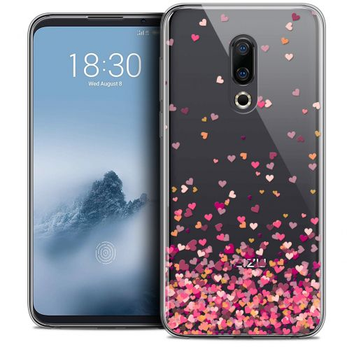 "Extra Slim Crystal Gel Meizu 16 (6"") Case Sweetie Heart Flakes"