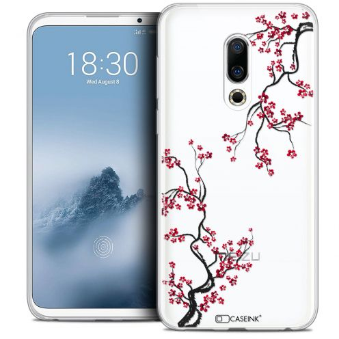 "Extra Slim Crystal Gel Meizu 16 (6"") Case Summer Sakura"
