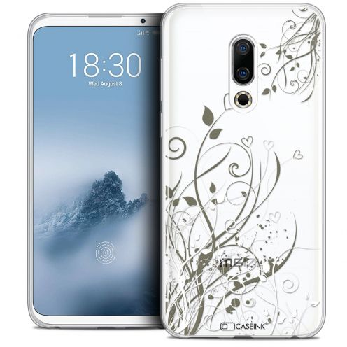 "Extra Slim Crystal Gel Meizu 16 (6"") Case Love Hearts Flowers"