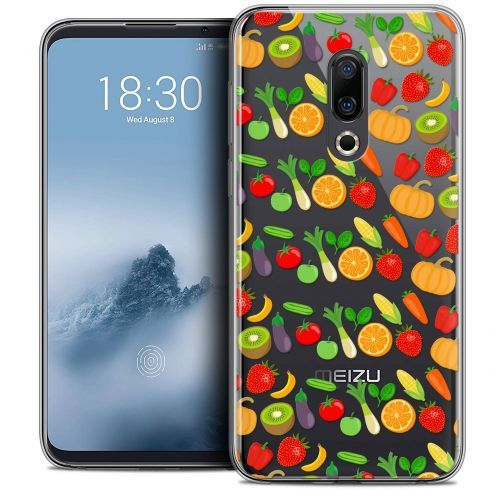 "Extra Slim Crystal Gel Meizu 16 (6"") Case Foodie Healthy"