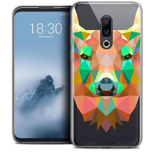 "Extra Slim Crystal Gel Meizu 16 (6"") Case Polygon Animals Deer"