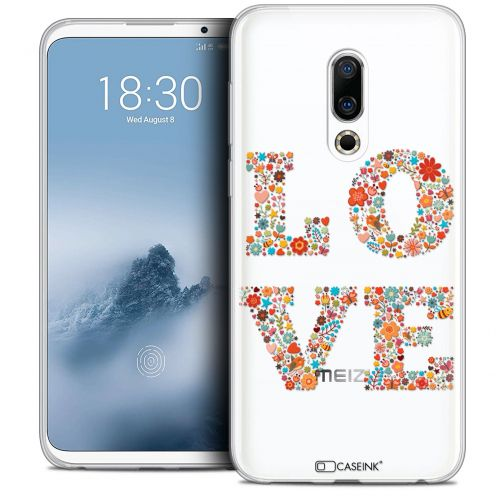 "Extra Slim Crystal Gel Meizu 16 (6"") Case Summer Love Flowers"