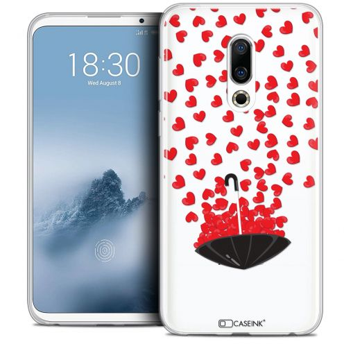 "Extra Slim Crystal Gel Meizu 16 (6"") Case Love Parapluie d'Amour"