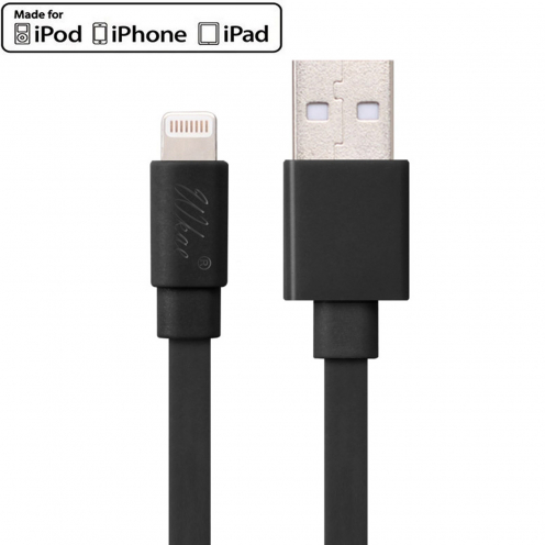 Wkae® MFI Certified USB to Lightning 8 Pin Cable for iPhone 6/6Plus/5/S/C - iPad - Black