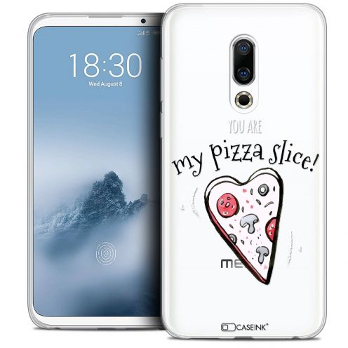 "Extra Slim Crystal Gel Meizu 16 (6"") Case Love My Pizza Slice"