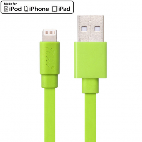 Wkae® MFI Certified USB to Lightning 8 Pin Cable for iPhone 6/6Plus/5/S/C - iPad - Green