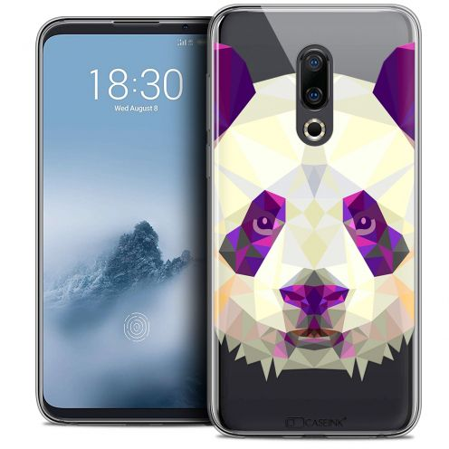 "Extra Slim Crystal Gel Meizu 16 (6"") Case Polygon Animals Panda"