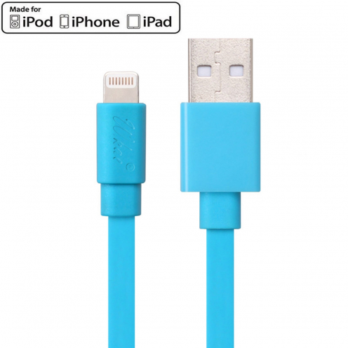 Wkae® MFI Certified USB to Lightning 8 Pin Cable for iPhone 6/6Plus/5/S/C - iPad - Blue