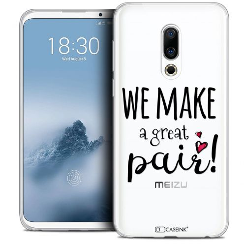 "Extra Slim Crystal Gel Meizu 16 (6"") Case Love We Make Great Pair"