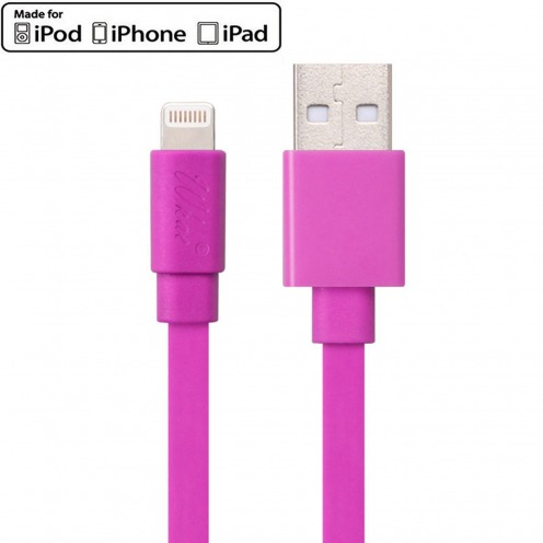 Wkae® MFI Certified USB to Lightning 8 Pin Cable for iPhone 6/6Plus/5/S/C - iPad - Pink