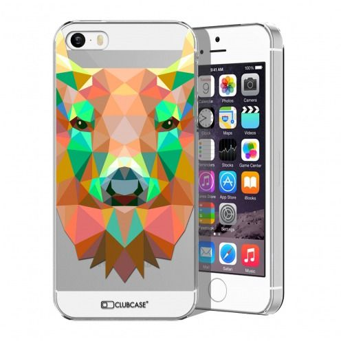 Extra Slim Crystal iPhone 5/5S/SE Case Polygon Animals Deer