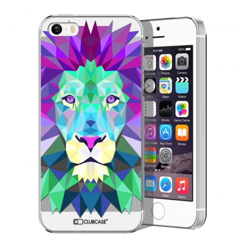 Extra Slim Crystal iPhone 5/5S Case Polygon Animals Lion
