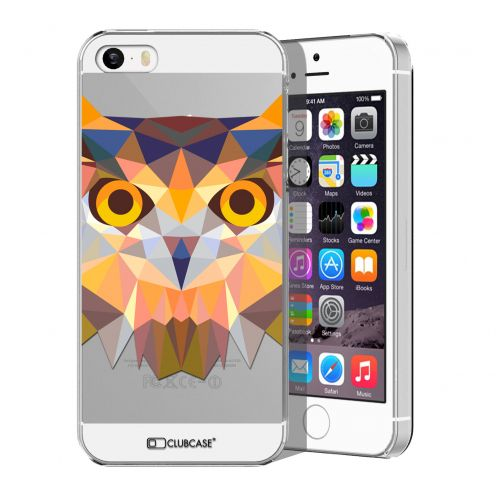 Extra Slim Crystal iPhone 5/5S Case Polygon Animals Owl
